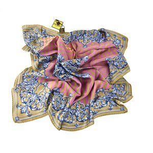 FENDI: Multicolor, FF Logo & Paisley Silk Scarf by